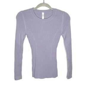 Lululemon Blue Long Sleeve Merino Wool Sweater 4